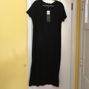 Mercer and Madison black linen dress